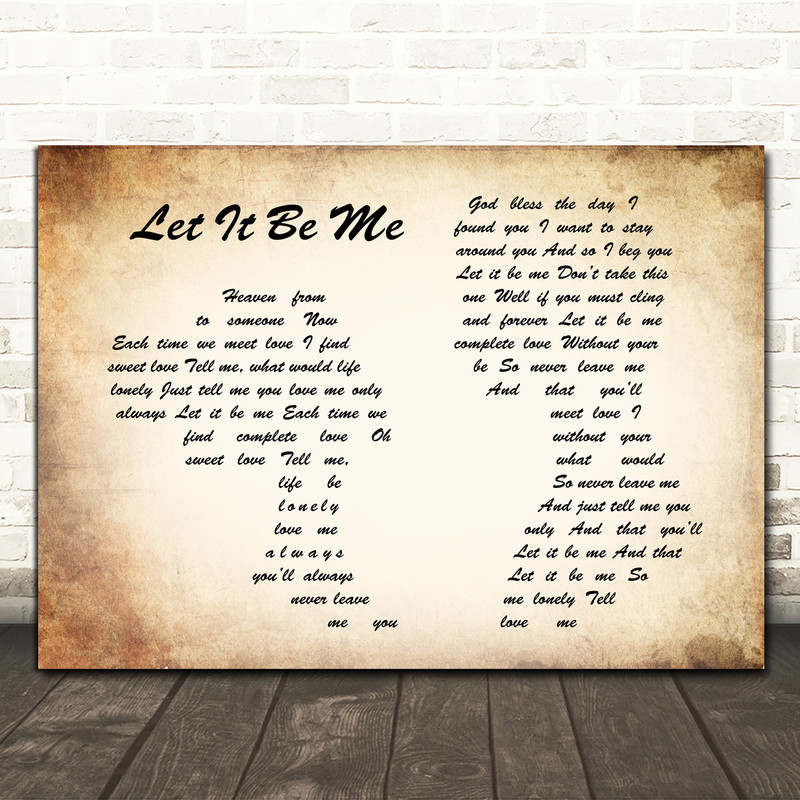 Elvis Presley Let It Be Me Man Lady Couple Song Lyric Framed Print