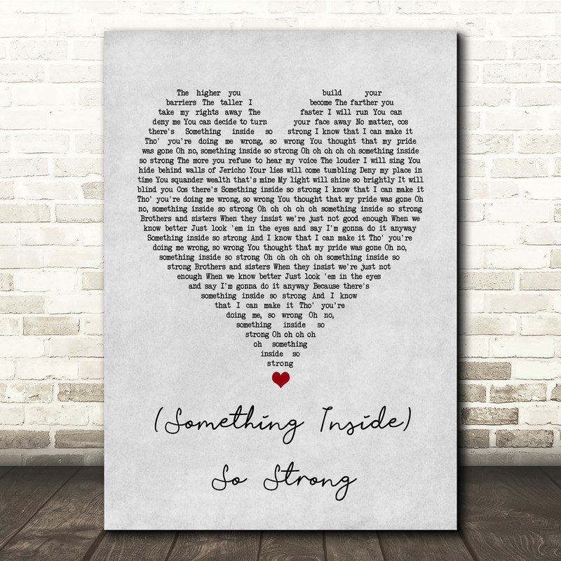 Labi Siffre (Something Inside) So Strong Grey Heart Song Lyric Quote Music Print