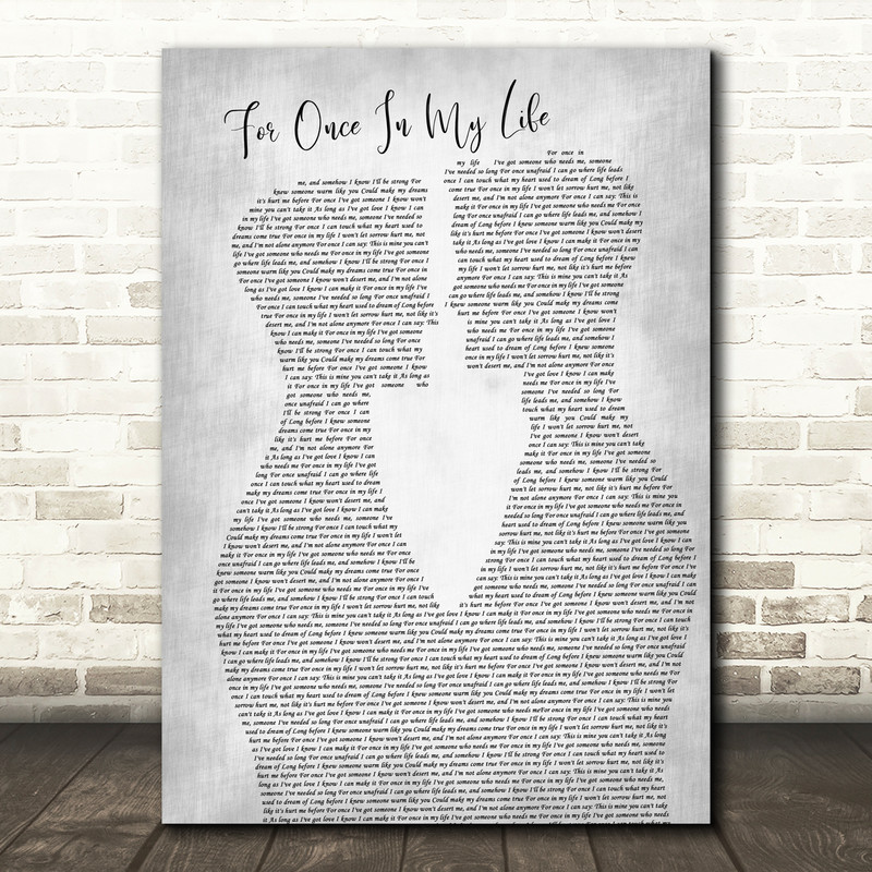 Frank Sinatra For Once In My Life Two Men Gay Couple Wedding Grey Song Lyric Music Art Print