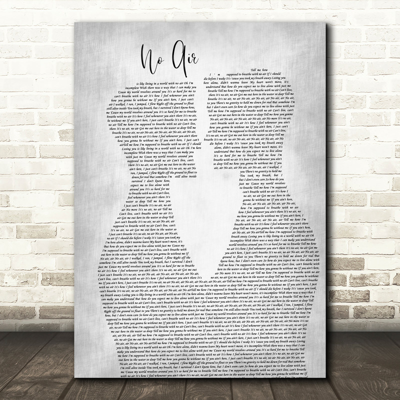 Jordin Sparks & Chris Brown No Air Two Men Gay Couple Wedding Grey Song Lyric Music Art Print