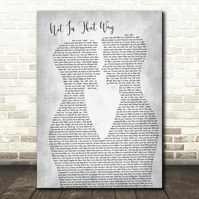 Sam Smith Not In That Way Two Men Gay Couple Wedding Grey Song Lyric Art Print