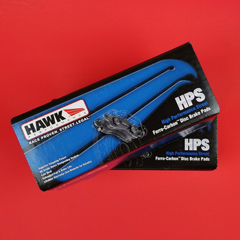 1997-2013 Corvette brake pad set - Hawk HPS front and rear brake pads for C5 and C6 Corvette EXCEPT ZR1, Grand Sport and C6 Z06