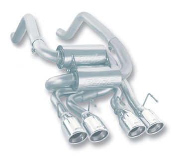 Borla 11744 Corvette C6 Cat Back rear section exhaust system, stainless steel, fits 2005-2008 models