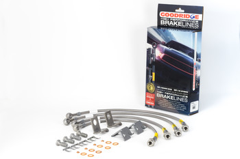 Corvette C6 2006-2013 Goodridge Stainless Steel Flexible Brake Line Kit