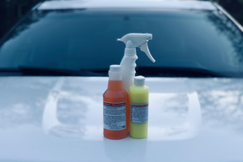 White+Wash white car cleaner removes orange spots from white paint, also known as rail dust.