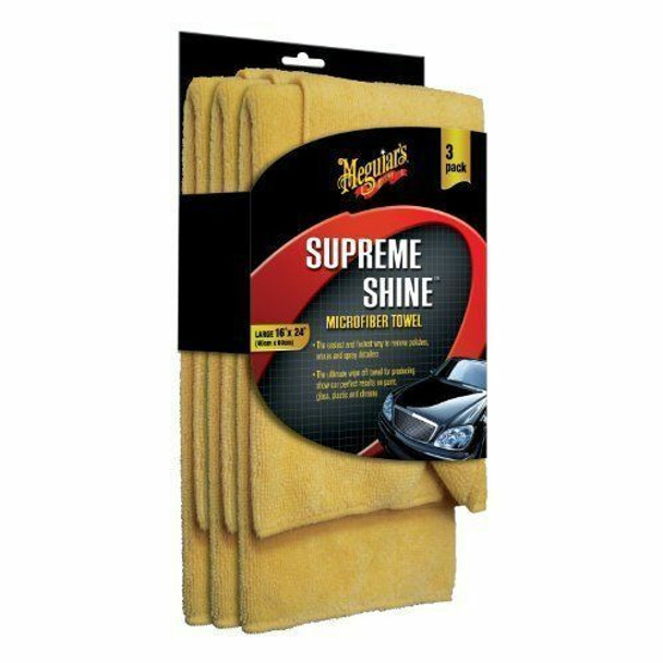 Meguiar's Supreme Shine Microfiber Towels 3 pack at Vette Lab