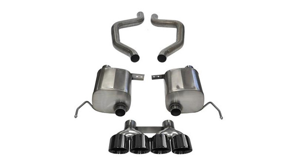 Corsa 14766BLK Stainless Valve Back Corvette Exhaust SYstem for 2015-2019 C7 Z06 and 2017 Grand Sport with manual transmission