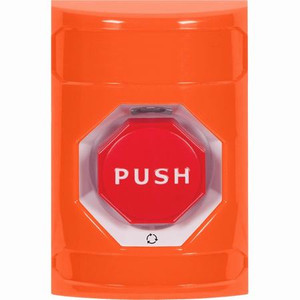 SS2509NT-EN STI Orange No Cover Turn-to-Reset (Illuminated) Stopper Station with No Text Label English