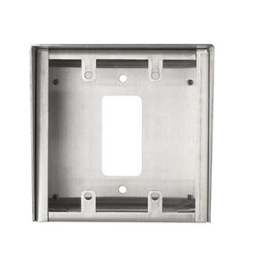 SBX-2G/A Aiphone Surface Mount 2-Gang Stainless Steel