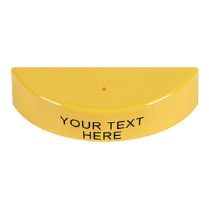 KIT-M06540-CY STI Replacement Hood with Non-Returnable Custom Text Label English - Yellow