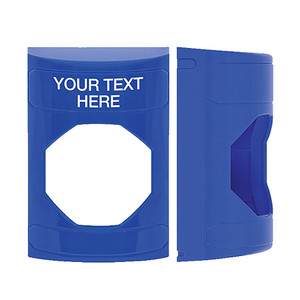 KIT-M10271-BZA STI Unnotched Replacement Shell with Non-Returnable Custom Text Label English - Blue