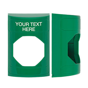 KIT-M10271-GZA STI Unnotched Replacement Shell with Non-Returnable Custom Text Label English - Green