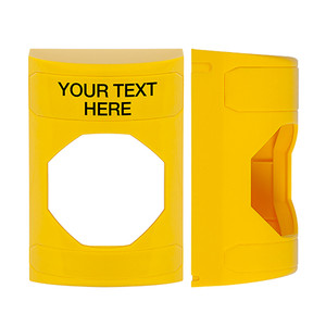 KIT-M10271-YZA STI Unnotched Replacement Shell with Non-Returnable Custom Text Label English - Yellow