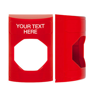 KIT-M10271-RZA STI Unnotched Replacement Shell with Non-Returnable Custom Text Label English - Red