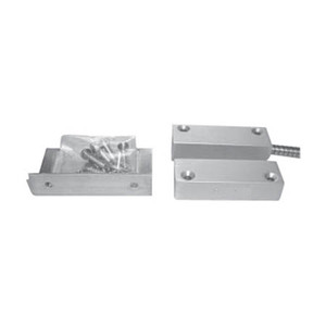 """IASM40 Industrial Aluminum Surface Mount Magnetic Contact SPDT 2.5"""" Gap w/ 3' Stainless Steel Armored Cable"""