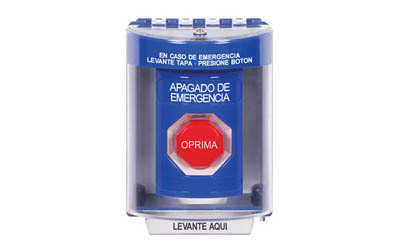 Spanish Emergency Power Off (EPO) Buttons