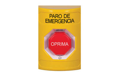 Spanish Emergency Stop Buttons