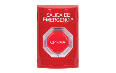 Spanish Emergency Exit Buttons