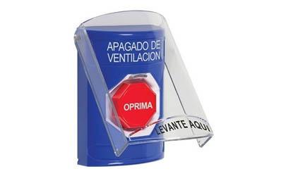 Spanish HVAC Shutdown Buttons
