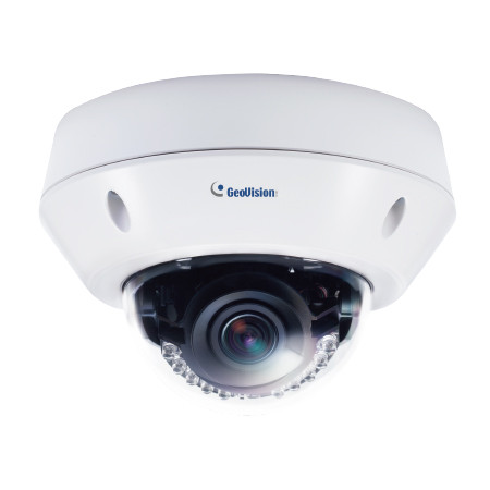 GV-VD8700 Geovision 30FPS @ 8MP Outdoor IR WDR Vandal Proof IP Dome Security Camera 12VDC/POE