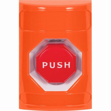SS2505NT-EN STI Orange No Cover Momentary (Illuminated) Stopper Station with No Text Label English