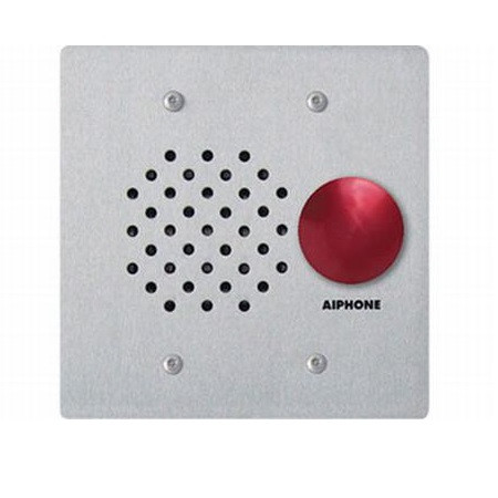 LE-SSR Aiphone Flush Mount 2-Gang Sub Station and SS W/  Red Mushroom Button