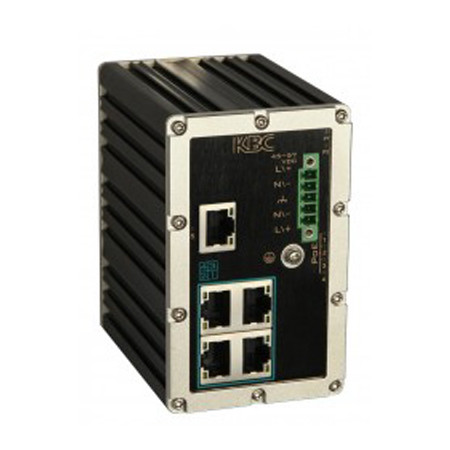 ESULS4-L1-B KBC Networks Industrial 5 Port 10/100M Ethernet Switch with 4 x PoE+ Ports 1 x Non-PoE Ports