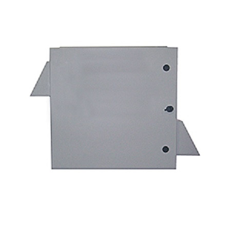"""BW-1248FCSS Mier NEMA Type 3R Outdoor 24"""" W x 24 """"H x 8 """"D Stainless Steel Electrical Enclosure with Thermostat and Fan - Gray - Solid Door"""