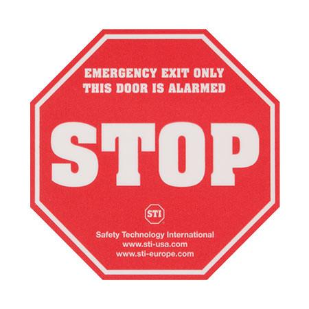 KIT-L16200 STI STOP Emergency Exit Label
