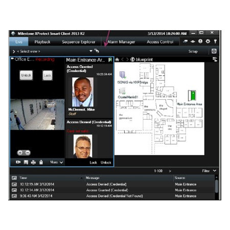 ISONAS-MACX ISONAS Milestone XProtect ACM Integration Software License per Access Point