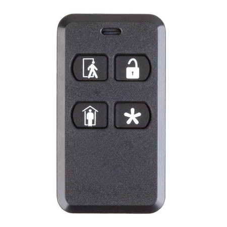 2GIG-KEY2E-345 2GIG 4-Button Key Ring Remote for EDGE and GC2e/GC3e Panels Only