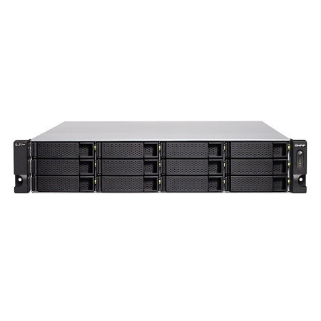 TS-H1886XU-RP-D1622-32G-US QNAP 12 Bay Rackmount NAS/iSCI/IP-SAN 2.6GHz Intel Xeon D-1622 quad-core 32GB ECC RAM - No HDD