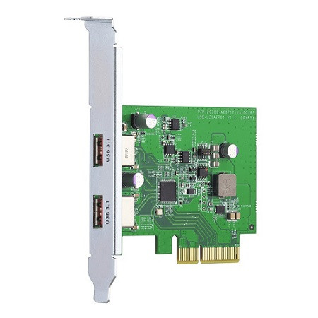 QXP-10G2U3A QNAP USB 3.2 Gen 2 Dual-port PCIe Expansion Card