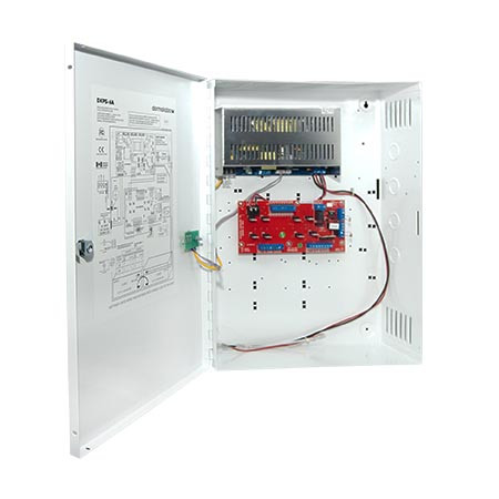 "DKPS-6A Dormakaba Rutherford Controls DKPS 8 Output 6A 12/24VDC Power Supply in UL Listed Indoor 13 5/16"" x 17 5/8"" x 4 5/16"" Metal Electrical Enclosure"