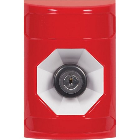 SS2003NT-EN STI Red No Cover Key-to-Activate Stopper Station with No Text Label English