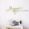 Custom Elegant Wooden Name Sign