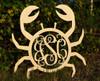 Wooden Crab Monogram Letters
