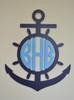 Wheel Anchor Monogram, 2 Colors