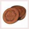 Coaster Leather Round CD030