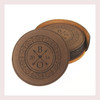 Coaster Leather Round CD040