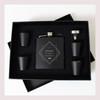 Engraved 6 oz Wedding Flask Set FD039