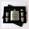 Engraved 6 oz Wedding Flask Set FD041