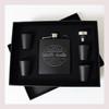Engraved 6 oz Wedding Flask Set FD045