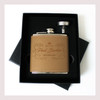 Engraved 6 oz Wedding Flask Small Set FD043