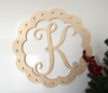 Monogram Door Hanger Wreath