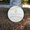"Engraved Team Baseball/Softball Plaque, 10"" Birch Wood"