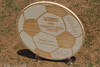 """Engraved Coach's Soccer Plaque, 14"""" Birch Wood"""