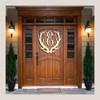 Wooden Antler Monogram Door Hanger