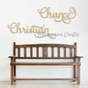 Elegant Wooden Name Sign