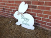 Happy Easter Bunny with Burlap Bow